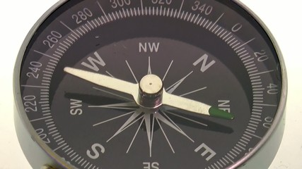compass pointing northeast