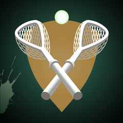 Lacrosse sticks.