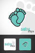 Baby feet, icon & business cards