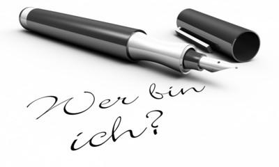 Wer bin ich? - Stift Konzept