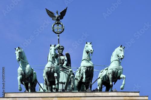 Naklejka Berlin Brandenburger Tor Quadriga