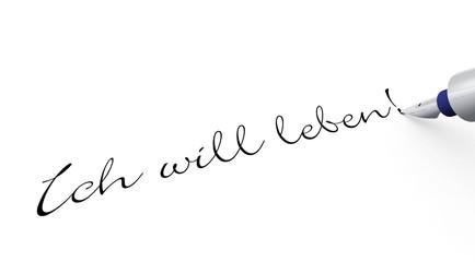 Stift Konzept - Ich will leben!