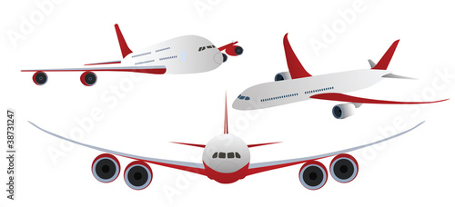 Airplanes Isolated on white