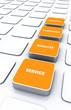 Quader Konzept Orange - Beratung Kompetenz Qualität Service 2