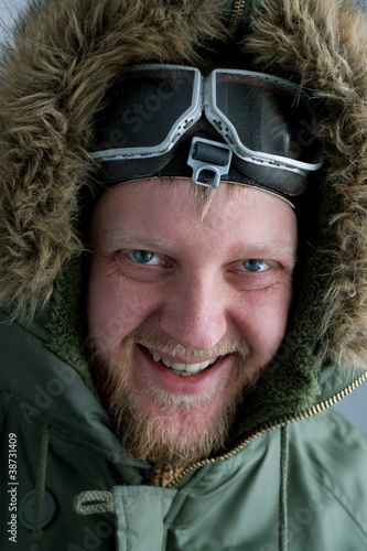 In polar flying helmet
