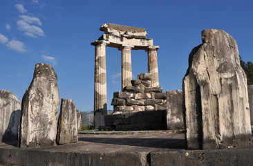 Grecia. Delfi. Temple of Atena