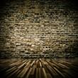 Wohndesign - Raum alt mit Klinkerwand