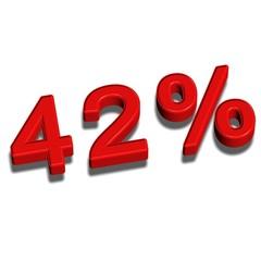 3d font 42%