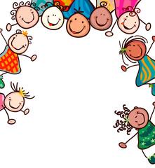 kids smiling