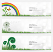 Set of Natural Banner Vector