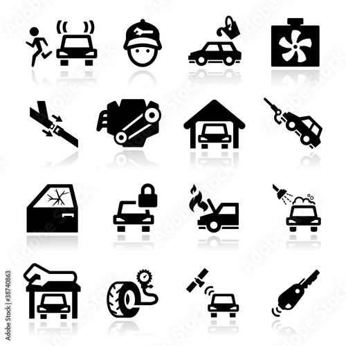 auto repair  Icons set -  Elegant series