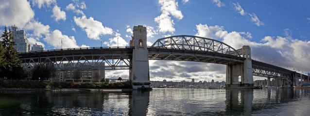 morning sun  on burrard bridge in Vancouver