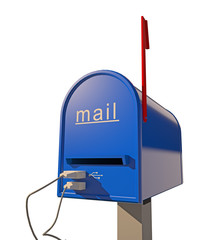 mailbox with USB port