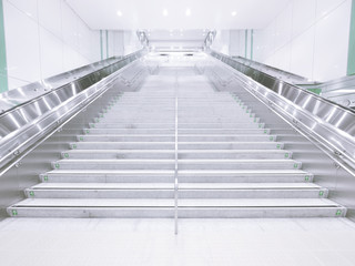 Long staircase in underground