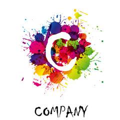 Splash Logo letter C # Vector