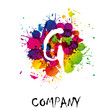 Splash Logo letter G # Vector