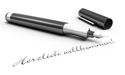 Herzlich Willkommen - Stift Konzept