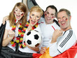 Public Viewing with young and adult german soccer fans