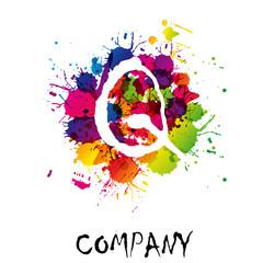 Splash Logo letter Q # Vector