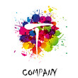 Splash Logo letter T # Vector