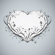 Decorative floral heart