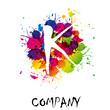 Splash Logo letter K # Vector