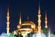 Blue Mosque on night in Istanbul