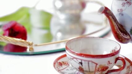 Tee mit Blume