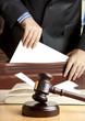 Leinwanddruck Bild - Lawyer in courtroom