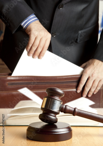 Leinwanddruck Bild Lawyer in courtroom