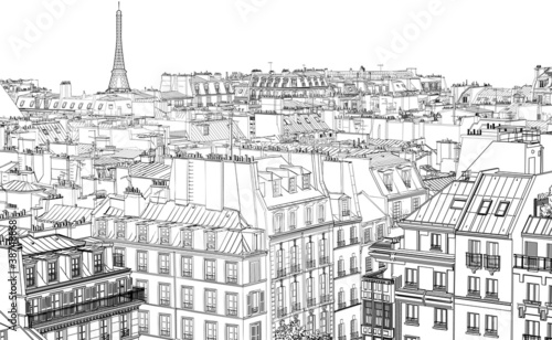 roofs in Paris - 38748868