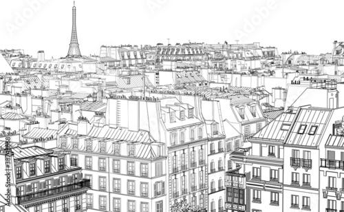 roofs in Paris - 38748868