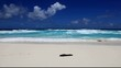 grand bleu et plage de sable blanc