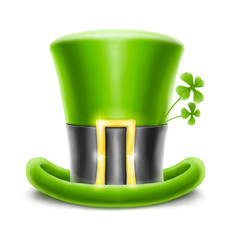 saint patrick's hat with clover