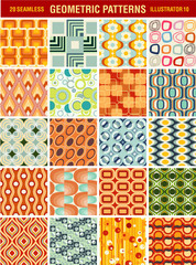 20 Seamless vintage vector patterns