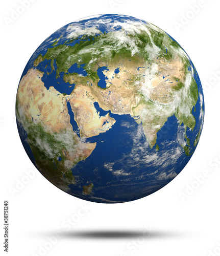 Planet Earth 3d render