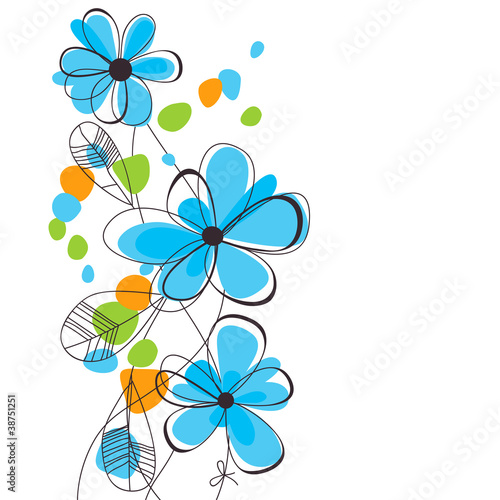 Tuinposter Abstract bloemen Spring flowers background