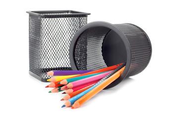 Set pencils in two basket