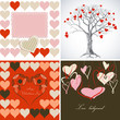 Love greeting card set