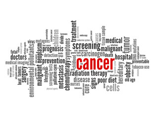 """CANCER"" Tag Cloud (health medical disease tumor patient cure)"