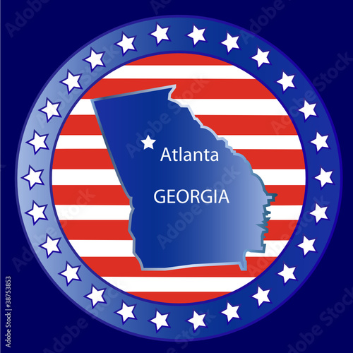 Georgia state seal stamp usa