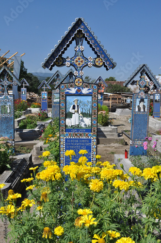 Romania. Cemetery cheerful of Sapinta.
