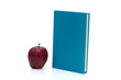 Blue Book with an apple