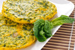 Frittata con spinaci - omelette with spinach