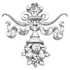 Cornucopia (horn of plenty) - a symbol of abundance and wealth.