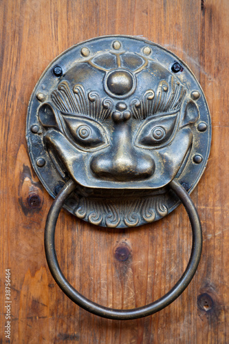 Chinese unicorn door knob