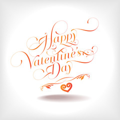 Happy Valentine's Days Text Vector
