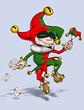 Leinwanddruck Bild - Harlequin Red & Green