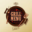 Grill Menu Card Design template