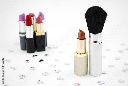 Lipstick and Make-up Brush